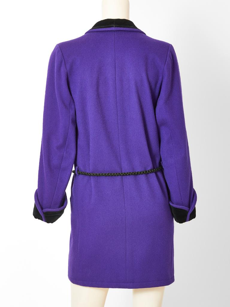 Women's Yves Saint Laurent Rive Gauche Double Breasted Wool and Velvet Jacket For Sale