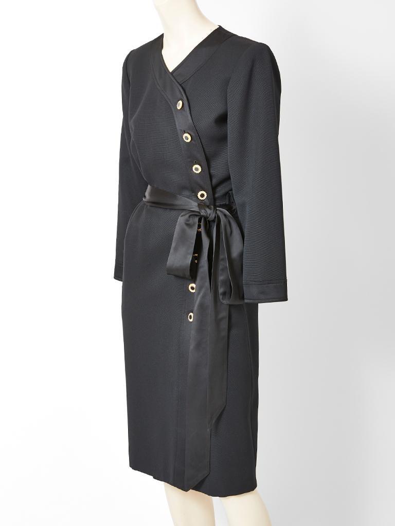 Black Yves Saint Laurent RIve Gauche Cocktail dress  For Sale