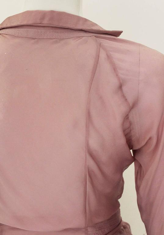 1990s YSL Lilac Silk Floaty Sleeved Blouse For Sale 3