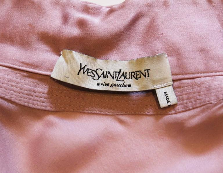 1990s YSL Lilac Silk Floaty Sleeved Blouse 9