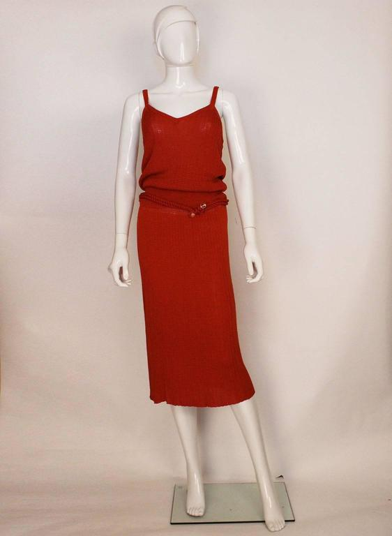 1990s Missoni Burnt Orange Knitted Three Piece Outfit. 2