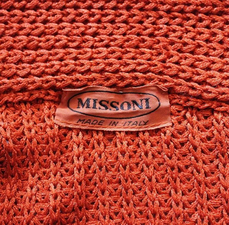 1990s Missoni Burnt Orange Knitted Three Piece Outfit. For Sale 4