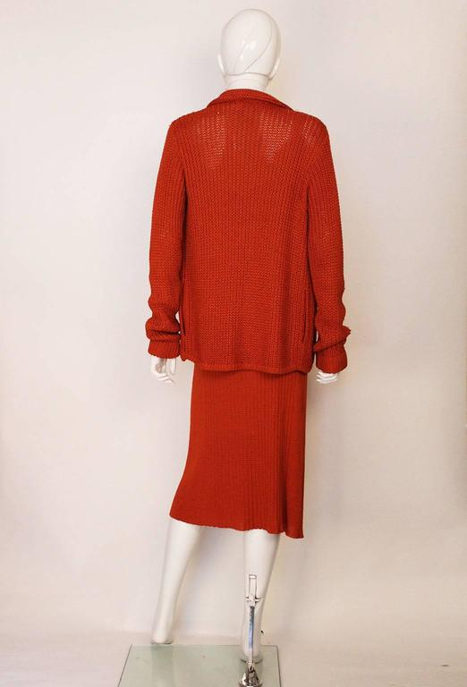 Women's 1990s Missoni Burnt Orange Knitted Three Piece Outfit. For Sale