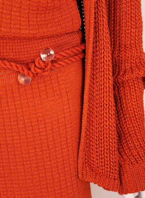 1990s Missoni Burnt Orange Knitted Three Piece Outfit. For Sale 2