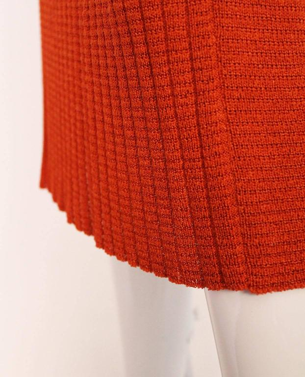 1990s Missoni Burnt Orange Knitted Three Piece Outfit. For Sale 3