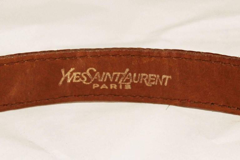 Yves Saint Laurent Paris, Red Lizzard Skin  Belt 5