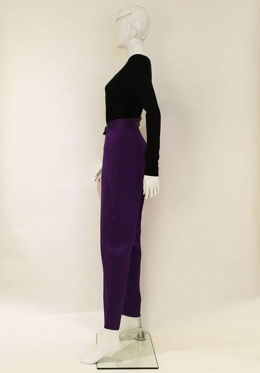 Purple Vivienne Westwood Satin Trousers For Sale