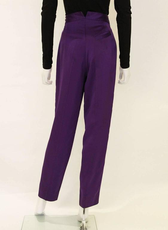 Vivienne Westwood Satin Trousers In Excellent Condition For Sale In London, GB