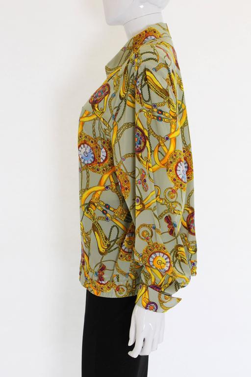 Brown Pierre Cardin Silk Blouson  For Sale