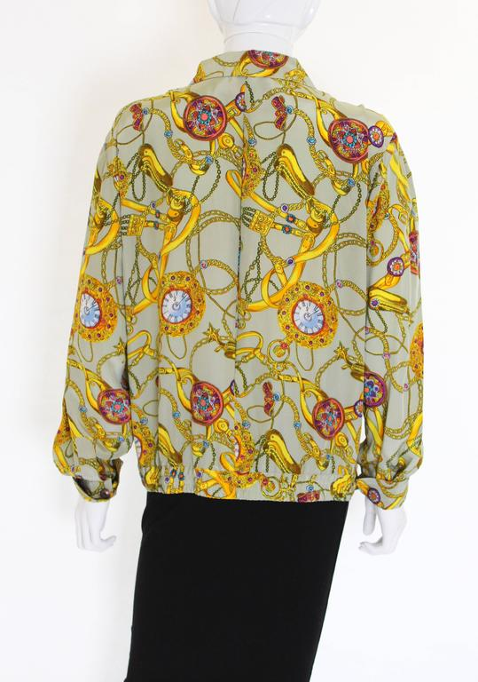 Pierre Cardin Silk Blouson  In Excellent Condition For Sale In London, GB