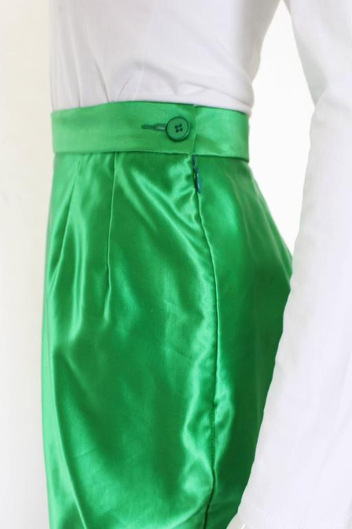 Women's Yves Saint Laurent Variation Cotton and Silk mix Skirt For Sale