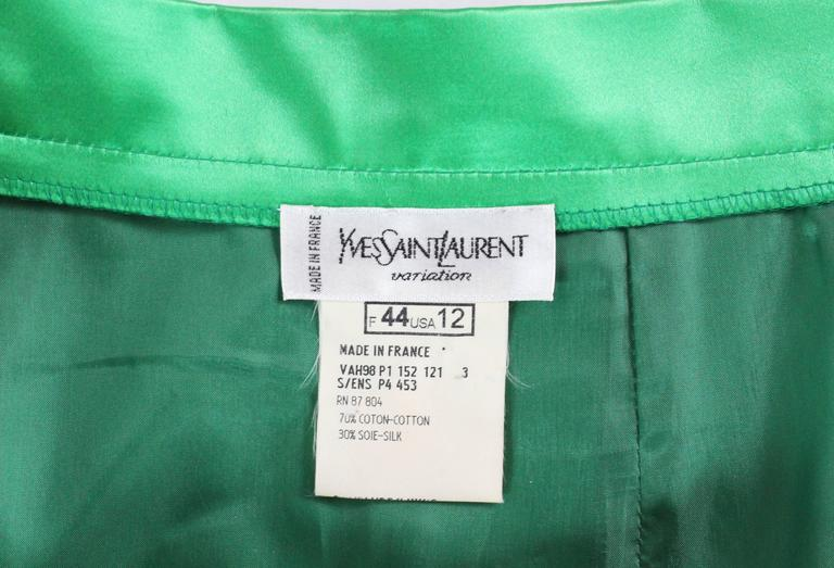Yves Saint Laurent Variation Cotton and Silk mix Skirt In Good Condition For Sale In London, GB