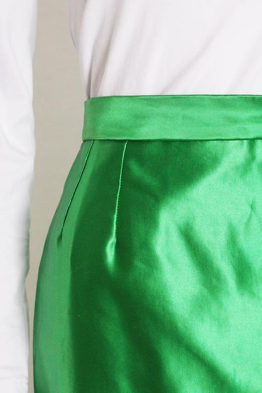 Yves Saint Laurent Variation Cotton and Silk mix Skirt For Sale 1