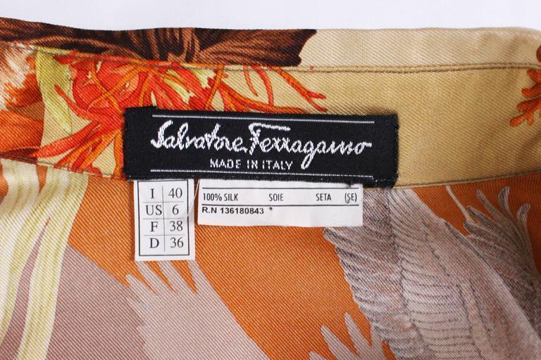Silk Overshirt by Salvatore Ferragamo 10