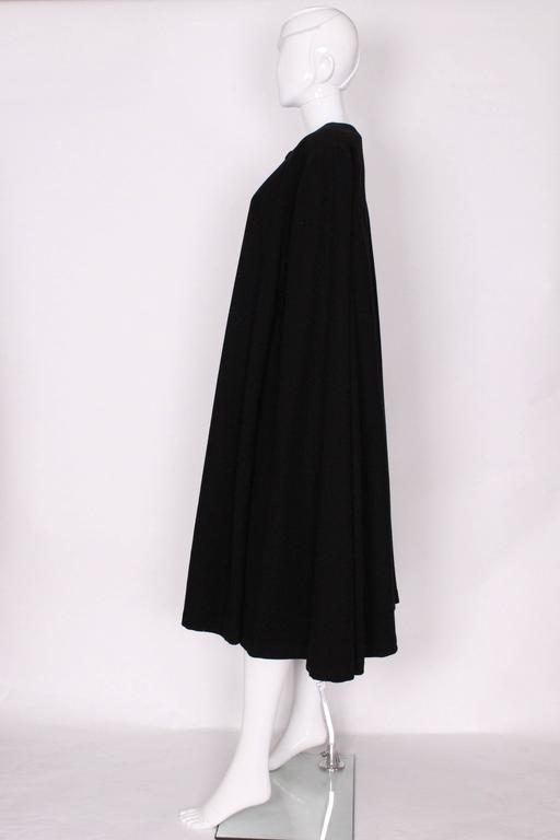 Women's Black Wool Cape by Yves Saint Laurent Rive Gauche For Sale