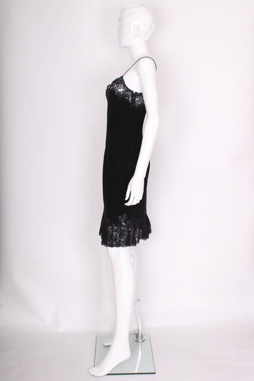 Vintage Christian Dior Boutique Paris,  Wool and Silk Slip Dress 4