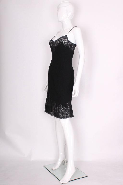 Vintage Christian Dior Boutique Paris,  Wool and Silk Slip Dress 3
