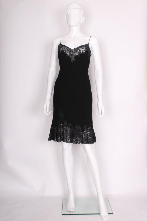 Vintage Christian Dior Boutique Paris,  Wool and Silk Slip Dress 2