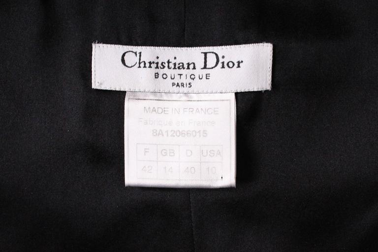 Vintage Christian Dior Boutique Paris,  Wool and Silk Slip Dress 7