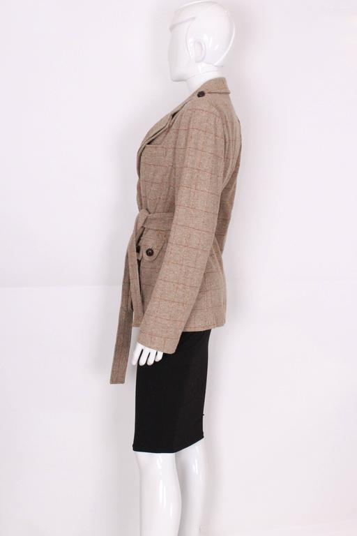 Yves Saint Laurent Linen/Silk Mix Jacket In Excellent Condition For Sale In London, GB