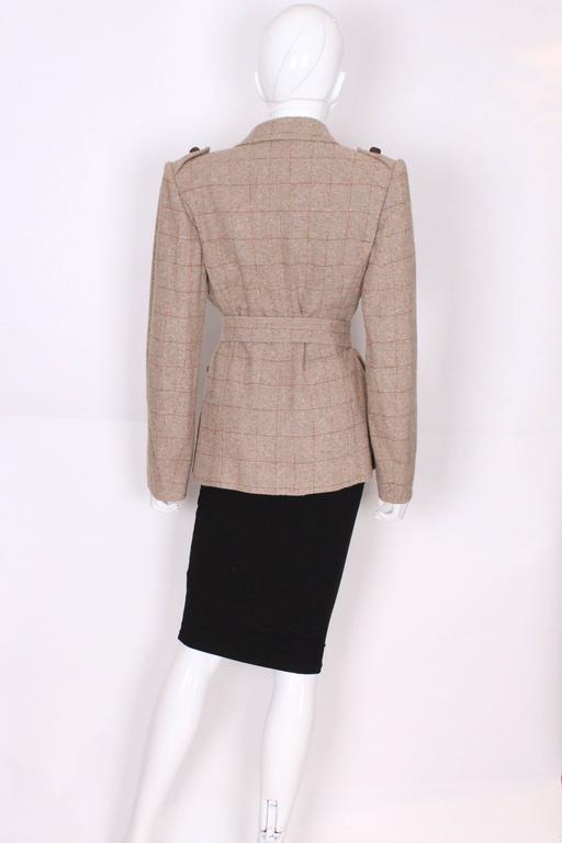 Women's Yves Saint Laurent Linen/Silk Mix Jacket For Sale