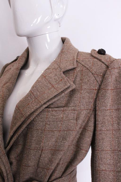 Yves Saint Laurent Linen/Silk Mix Jacket For Sale 3