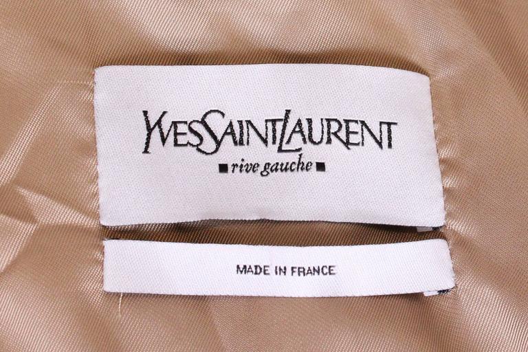 Yves Saint Laurent Linen/Silk Mix Jacket For Sale 5