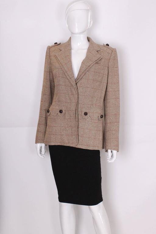 Yves Saint Laurent Linen/Silk Mix Jacket For Sale 1