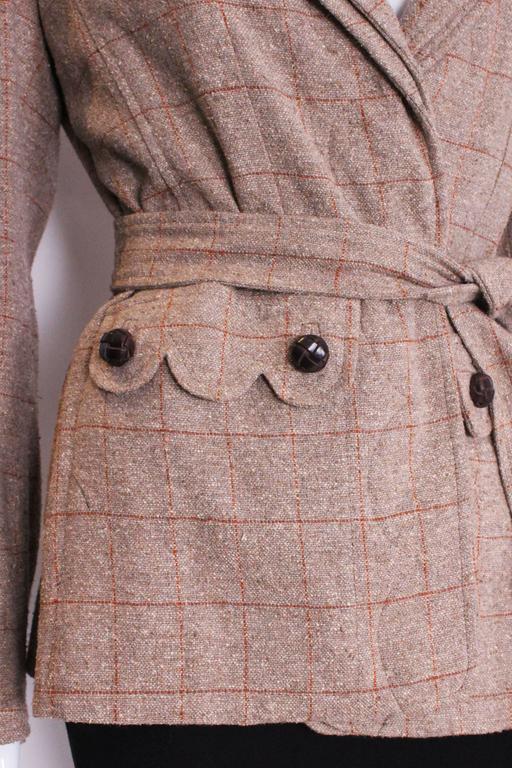 Yves Saint Laurent Linen/Silk Mix Jacket For Sale 4