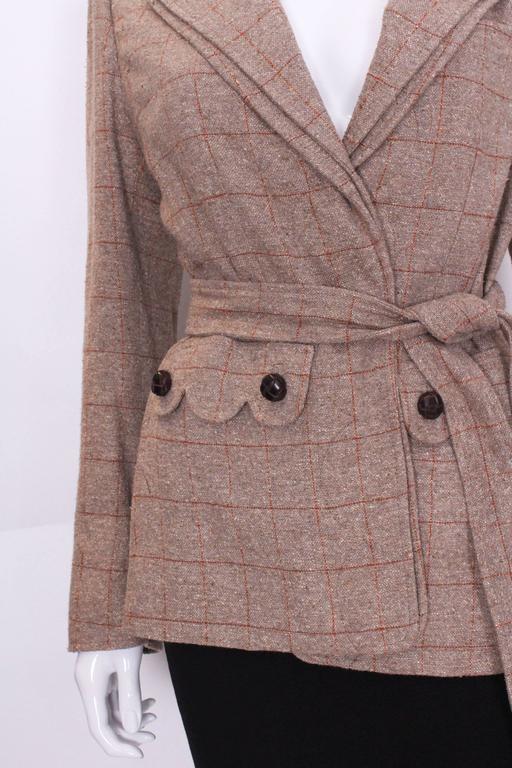 Yves Saint Laurent Linen/Silk Mix Jacket For Sale 2
