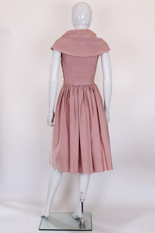 Women's 1950s Dusty Pink Prom Style Vintage Dress For Sale