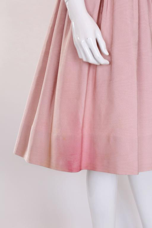 1950s Dusty Pink Prom Style Vintage Dress For Sale 2