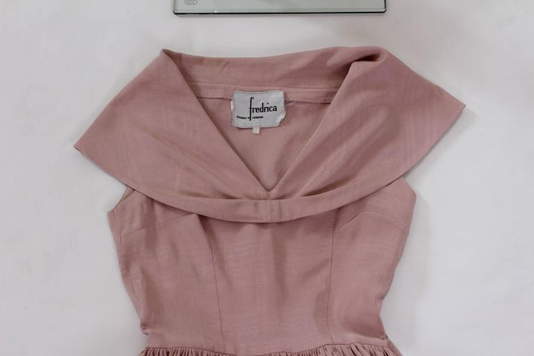 1950s Dusty Pink Prom Style Vintage Dress For Sale 4