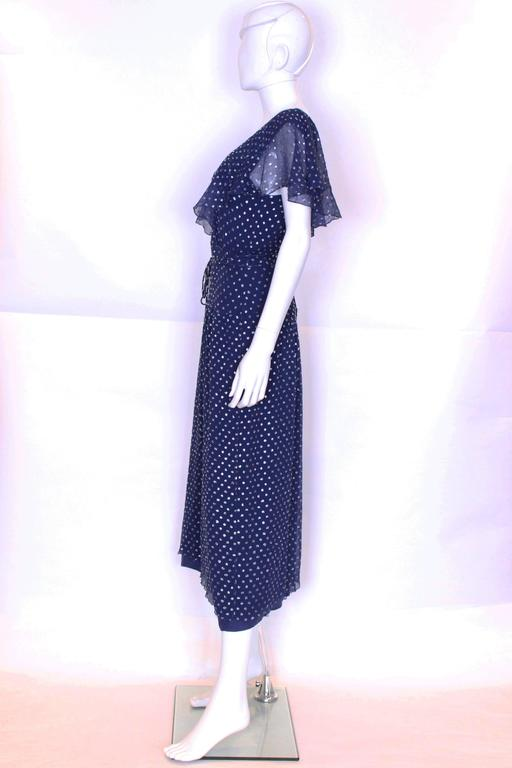 1970's Gina Fratini Silk Party Dress In Excellent Condition For Sale In London, GB