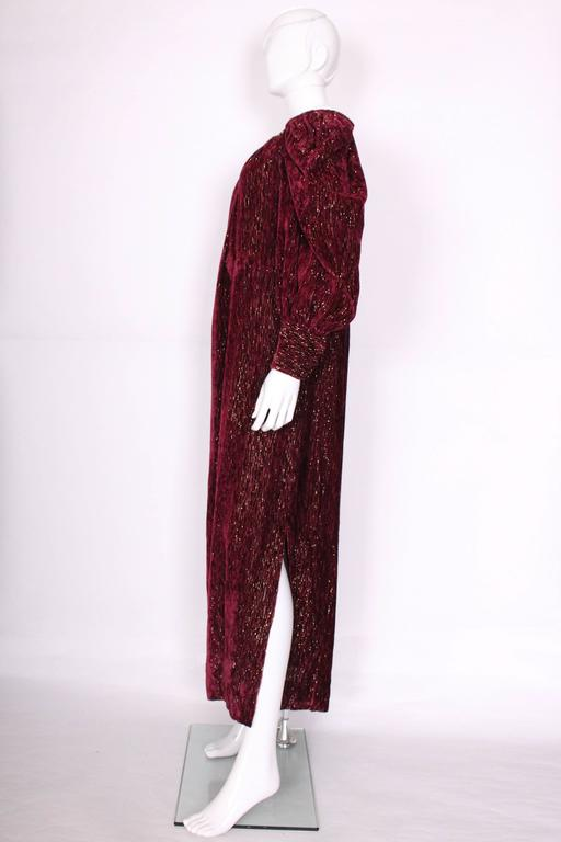 Burgundy Gown by Christian Dior , Boutique Paris For Sale 1