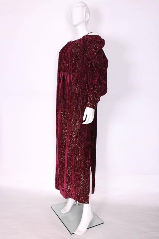Women's Burgundy Gown by Christian Dior , Boutique Paris For Sale