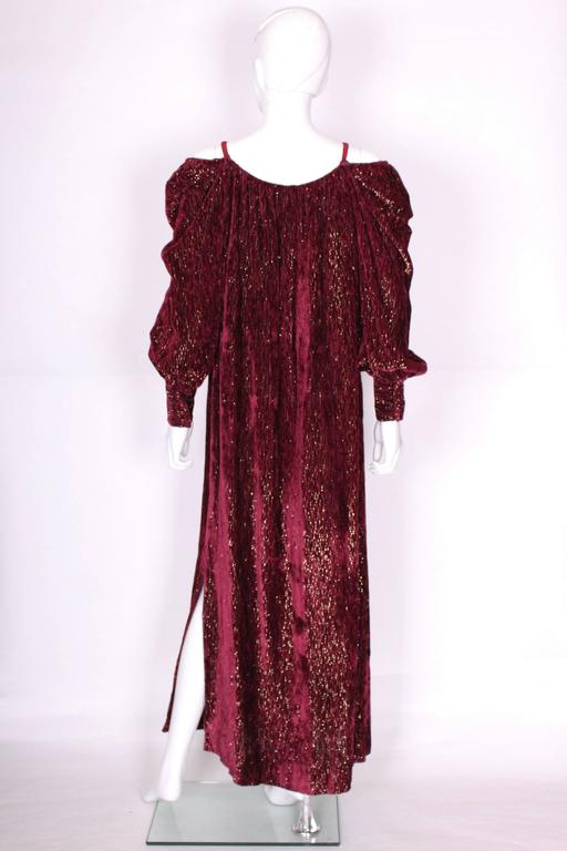 Burgundy Gown by Christian Dior , Boutique Paris For Sale 2