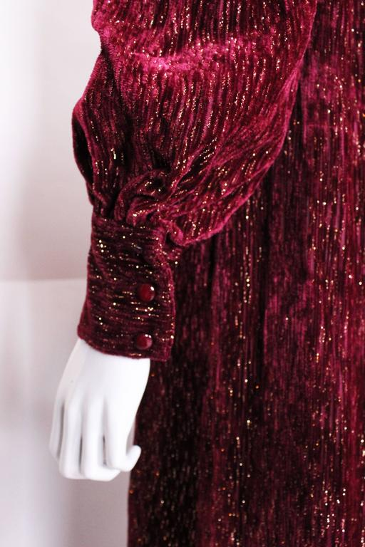 Burgundy Gown by Christian Dior , Boutique Paris For Sale 3