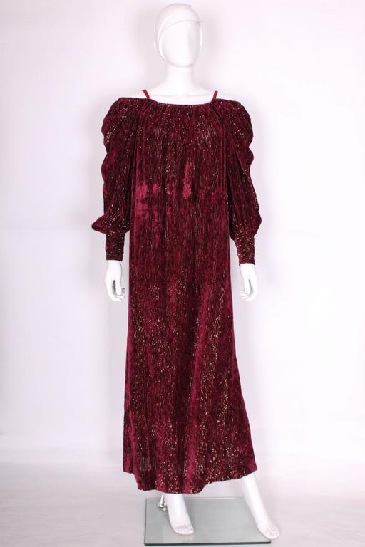 Burgundy Gown by Christian Dior , Boutique Paris In Good Condition For Sale In London, GB