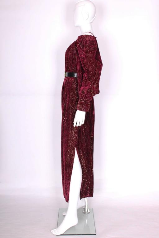 Red Burgundy Gown by Christian Dior , Boutique Paris For Sale