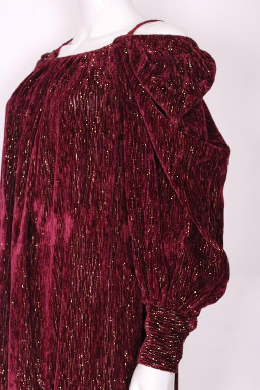 Burgundy Gown by Christian Dior , Boutique Paris For Sale 4