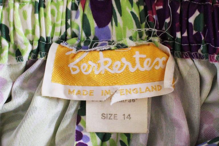1970s Berketex Floral Gown with Bolero For Sale 4