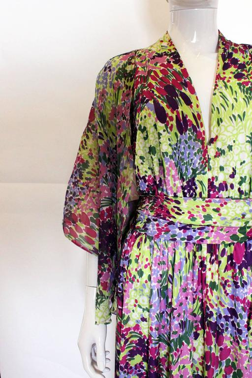 1970s Berketex Floral Gown with Bolero For Sale 2