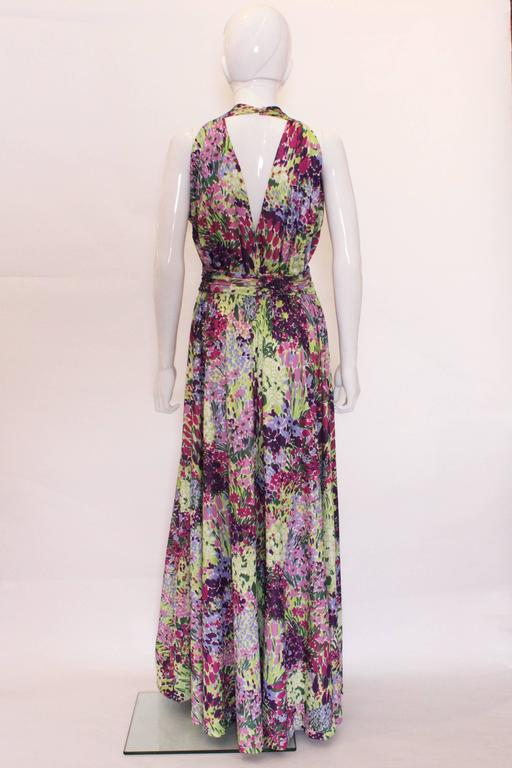 1970s Berketex Floral Gown with Bolero In Excellent Condition For Sale In London, GB