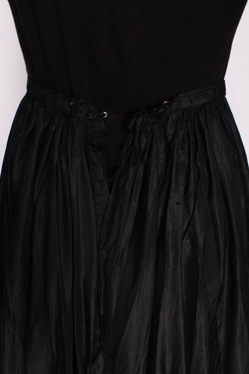 Edwardian Silk & Net Embroidered Black Skirt For Sale 3