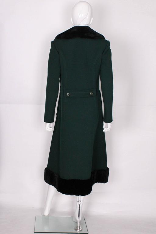 Mansfield For Harrods 1970s Dark Green Wool And Faux Fur
