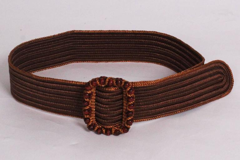 Brown Yves Saint Laurent Belt For Sale