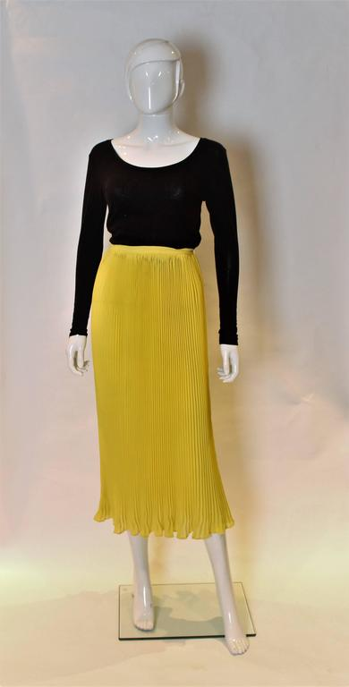 0e72060441 Lolita Lempika Yellow Pleated Skirt For Sale at 1stdibs