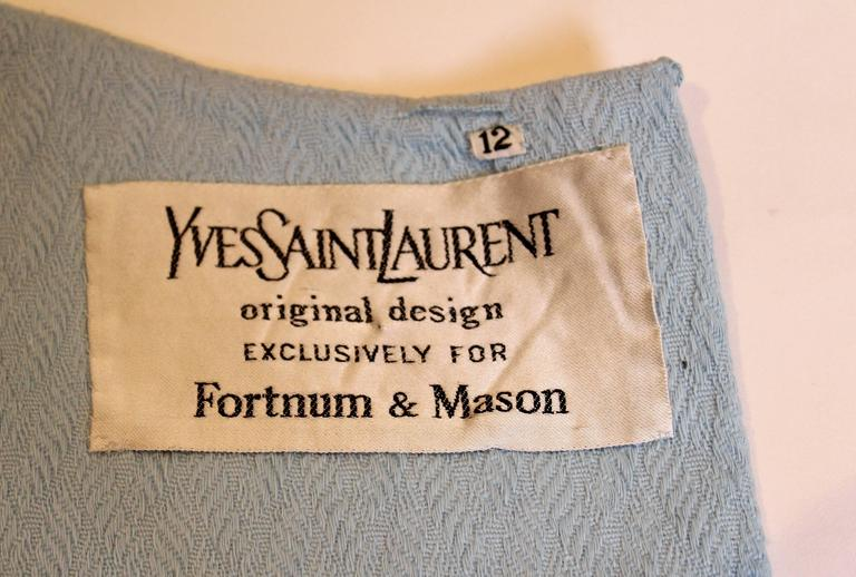 1970s dress by Yves Saint Laurent for Fortnum and Mason 8
