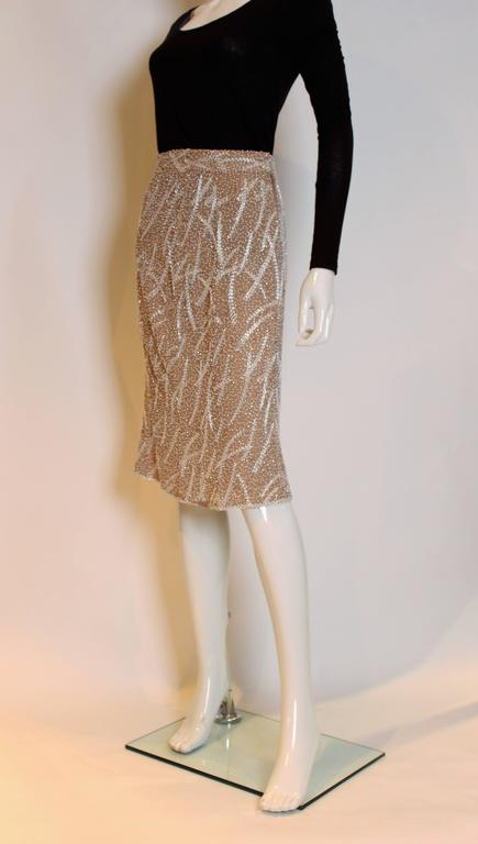 1980s silk,beaded and sequinskirt For Sale 1